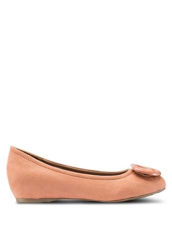 Berrybenka 粉紅色 素色平底鞋 2CB51SH96744BEGS_1