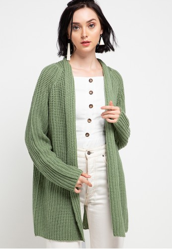 Peponi green Oversize Cardigan 8051AAA0A1D146GS_1