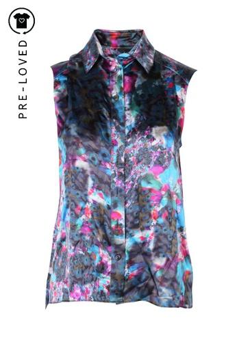 Erdem multi Pre-Loved erdem Silk Printed Collars Blouse 511BAAAB230613GS_1