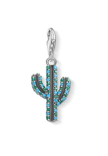 "THOMAS SABO blue Charm pendant ""Cactus turquoise"" 87E80ACC478623GS_1"