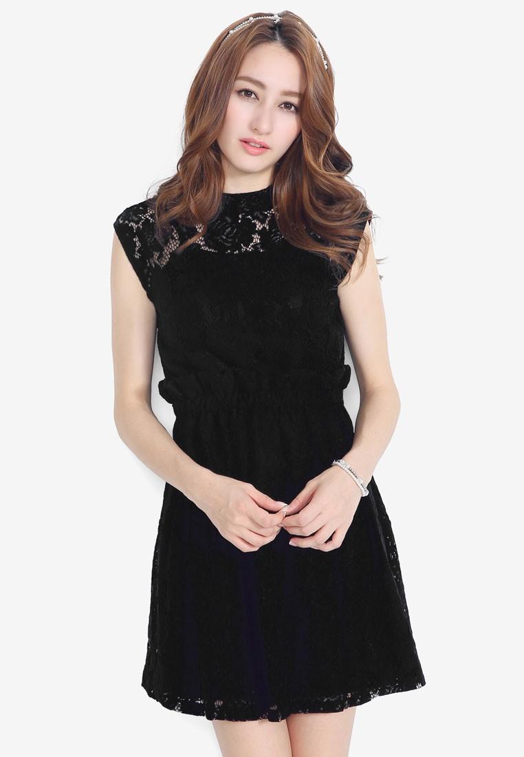 Sweet Lace Insert Dress