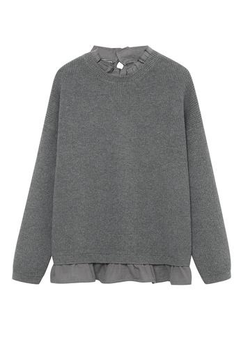 MANGO KIDS grey Shirt Hem Sweater 7E64CKA84E4760GS_1