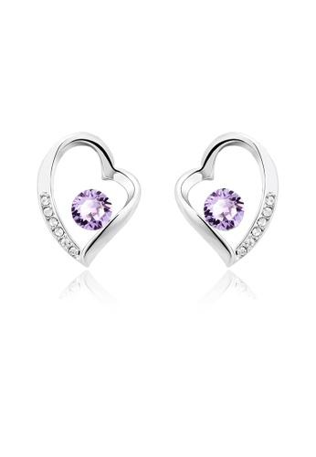 OUXI purple OUXI Love Earrings OU821AC91VHSMY_1