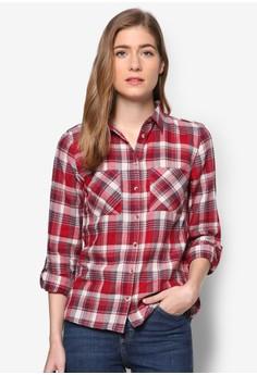 Autumn 格紋長袖襯衫