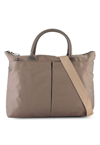 Bagstationz brown Convertible Working Tote Bag A96E3AC0008F41GS_1
