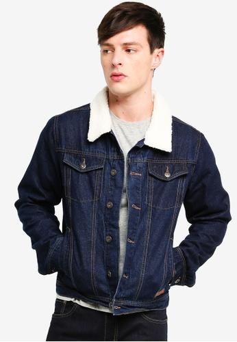 Indicode Jeans 藍色 刷毛牛仔外套 0BA81AABA241D7GS_1