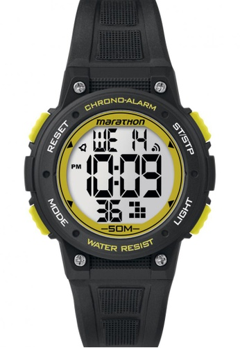 TIMEX black Timex Marathon® - Digital Mid-Size Black Resin Strap Watch TI857AC82COBSG_1