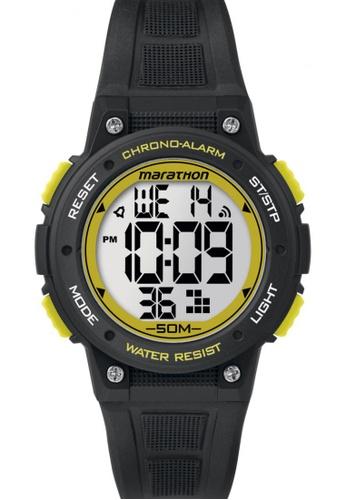 TIMEX black Timex Marathon® - Digital Mid-Size Black Resin Strap Watch TI857AC82COBSG_1