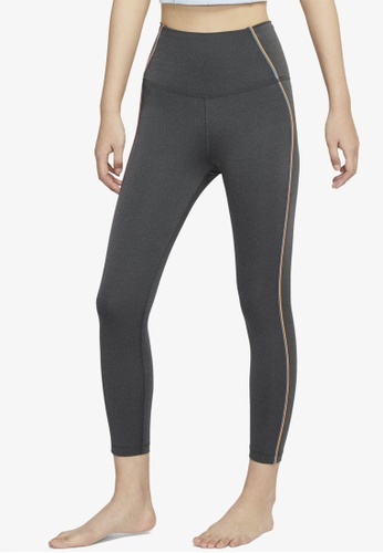 Nike black and grey Yoga Core 7/8 Tights 85397AAA97A657GS_1