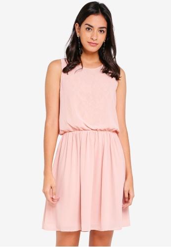 Vero Moda pink Mia Sleeveless Lace Dress D19B0AA7044178GS_1
