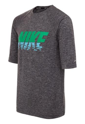 Nike black Nike Boy's Heather Sunset Logo Short Sleeve Hydroguard 0FB0FUSBC7AE38GS_1