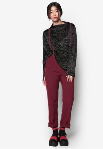 韓式風格亮眼不對稱領esprit 京站口長袖上衣, 服飾, 上衣