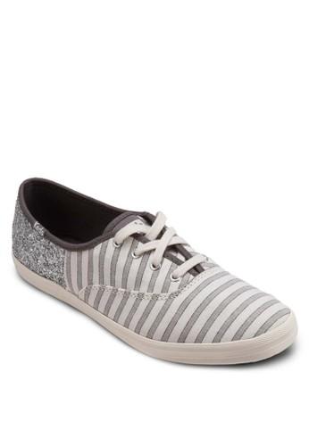 Kickstart 條紋青年布布鞋, 女鞋,esprit台灣門市 鞋