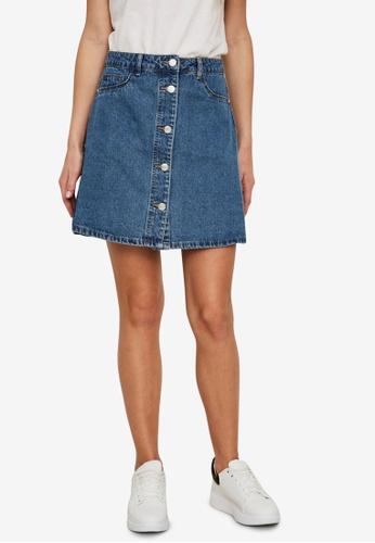 Noisy May blue Sunny Short Denim Skater Skirt DD0F6AA8E2CFA5GS_1