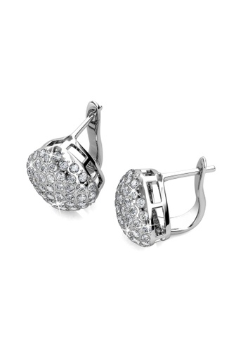 Her Jewellery silver Peyton Clip Earrings - Licensed Genuine Crystals from Swarovski® HE581AC0RVGOMY_1