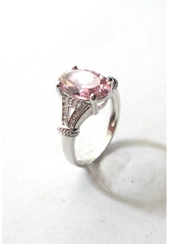 San Marco pink and silver Monatony Ring Pink SA720AC0W0Y4ID_1