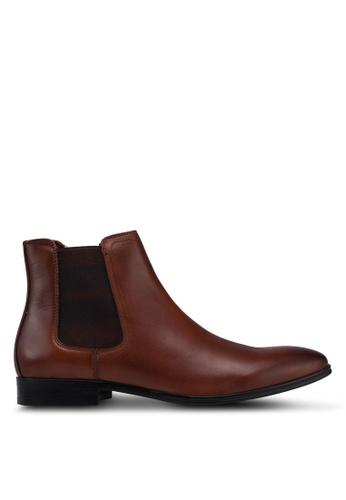 ALDO brown Affery Chelsea Boots B5E1FSH30CD8AFGS_1