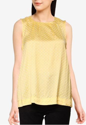 Vero Moda yellow Fie Sleeveless Top F53C1AA869059FGS_1