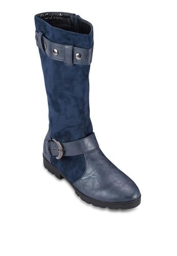 混合拼接及esprit hong kong 分店膝長筒靴, 女鞋, 鞋