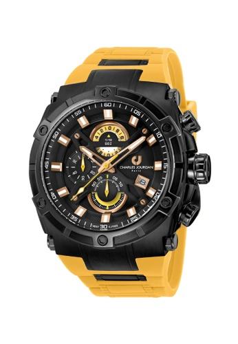 Charles Jourdan yellow Charles Jourdan Men Watch Chronograph CJ1022-1732C 8709EAC22F4625GS_1