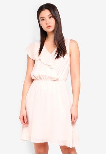 ICHI beige Sweetie Dress 9C50EAAECC5147GS_1