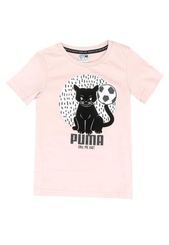 PUMA pink Animals Suede Tee FDACBKA9677A74GS_1
