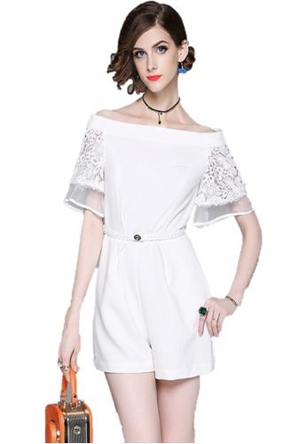 Sunnydaysweety white White Off-Shoulder Short Sleeves Jumpsuit A072441W SU443AA2UMVVHK_1