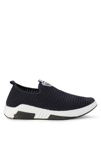 Declan navy Conan Slip On Sneakers 0B11BSHC01D813GS_1