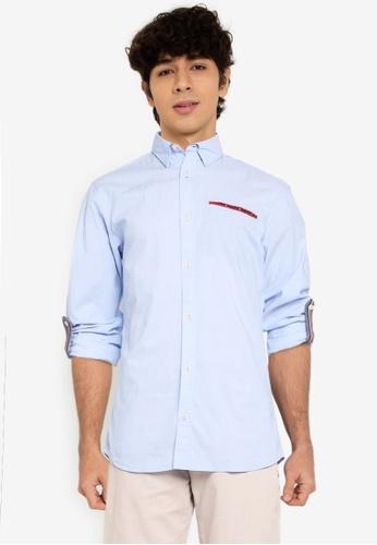 Jack & Jones blue Long Sleeves Print Shirt CD89BAA4C815DDGS_1