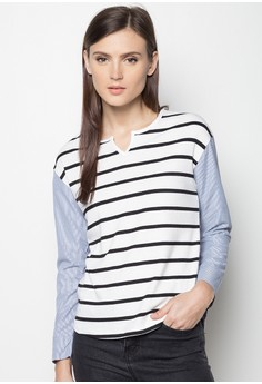 Striped Long Sleeves Blouse