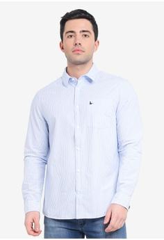 a9f3b66a7 Jack Wills blue Abertham Classic Poplin Stripe Shirt A05FDAAFF7E3D0GS 1