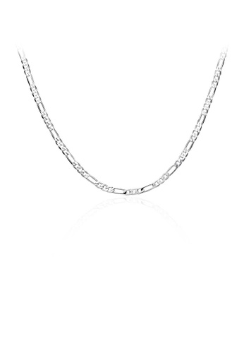 Glamorousky silver Fashion and Simple Necklace For Men 6C34DAC5A149DEGS_1