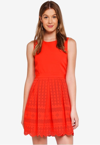 Angeleye pink Coral Fit and Flare Mini Dress 8C3C9AAAE12BD0GS_1