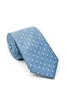 Dark Navy Blue NEW White Polka Dot Non Crease Travel Tie FREE Pocket Hanky Set