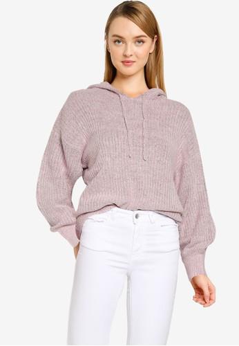 JACQUELINE DE YONG pink Sunday Long Sleeves Hood Pullover AC26EAAE66A878GS_1