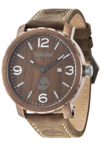 Timberland brown Pinkerton TBL.14399XSBN/12 Brown Leather Strap Men Watch TI063AC06TUJMY_1