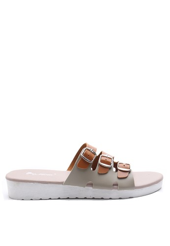 Dr. Kevin brown Dr. Kevin Women Flat Sandals 27337 - Brown/Cream DR982SH38AXLID_1