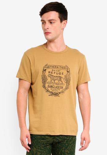 J.Crew 褐色 短袖印花T恤 37C38AA28AD492GS_1