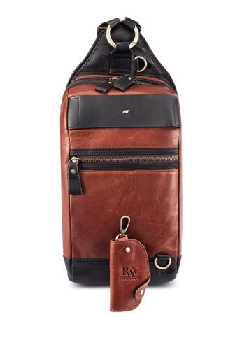 RAV Design brown Leather Chestbag RA113AC0RW42MY_1