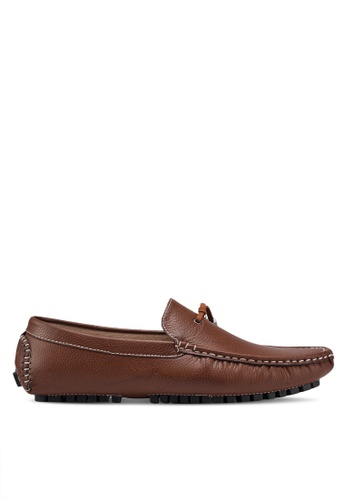 High Cultured brown Stitch Detail Loafers 318 35EBASH95106EFGS_1