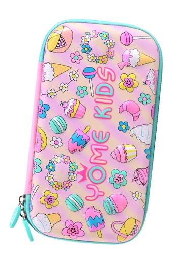Yome pink YOME Pencil Case Desserts B0D26KC86F060AGS_1