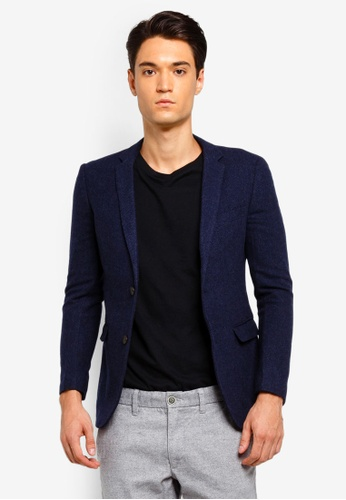 ESPRIT 藍色 西裝外套 8FCDFAA6482516GS_1
