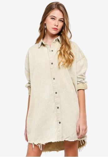 f1a1a42c46c Shop MISSGUIDED Oversized Denim Shirt Dress Online on ZALORA Philippines