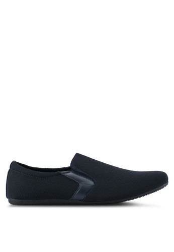 UniqTee navy Classic Textile Loafers UN097SH0SYS5MY_1