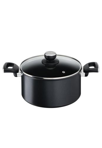 TEFAL Tefal Unlimited Black IH Stewpot 24cm w/lid G25546 39FC7HL86938CBGS_1