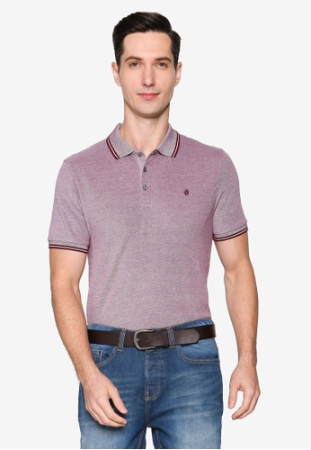 Burton Menswear London red Burgundy Two Tone Tipped Polo Shirt 618DEAA15BDFCFGS_1
