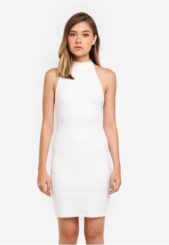 Miss Selfridge white Bandage Halter Bodycon Dress 12972AA8FDD916GS_1