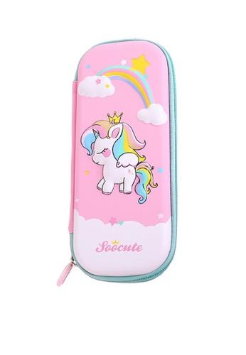 Twenty Eight Shoes pink VANSA 3D Cartoon Pencil Case  VAK-A99887 09E19KC39C8E61GS_1