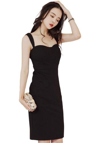 Sunnydaysweety black Sexy Wrapped Backless Slip One Piece Dress A21022239 B820CAAB303D5BGS_1