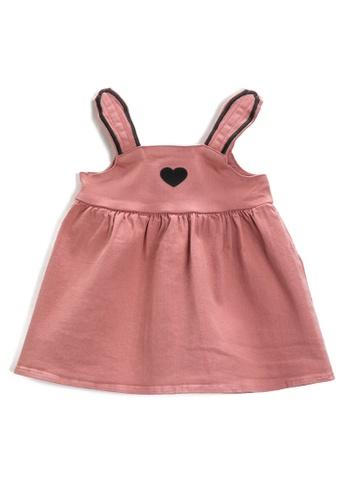KOTON pink Heart Embroidery Dress A69FDKA8572C0DGS_1